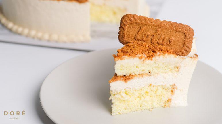 Lotus Biscoff Birthday Cake