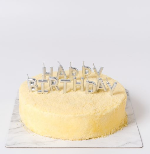Silver Set Birthday Candle
